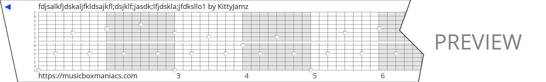 fdjsalkfjdskaljfkldsajkfl;dsjklf;jasdk;lfjdskla;jfdksllo1 15 note music box paper strip