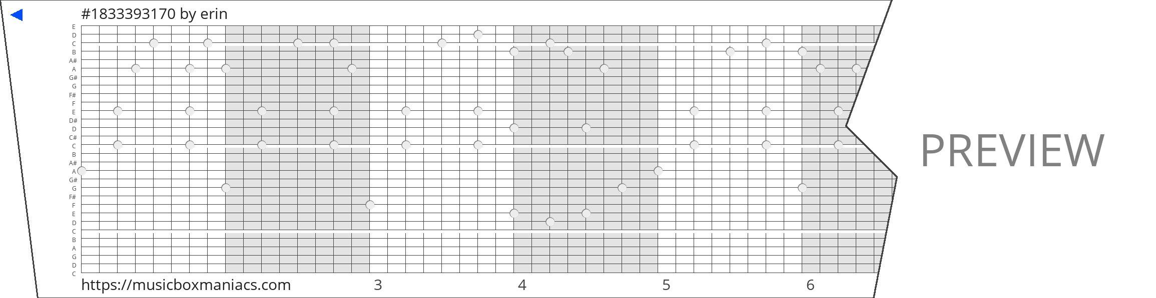 #1833393170 30 note music box paper strip