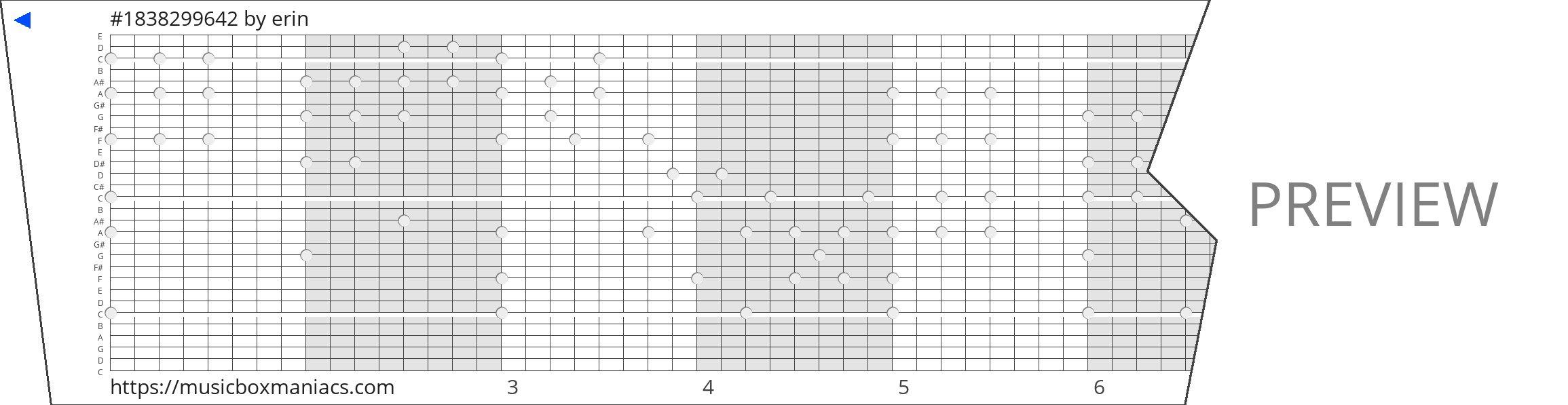 #1838299642 30 note music box paper strip