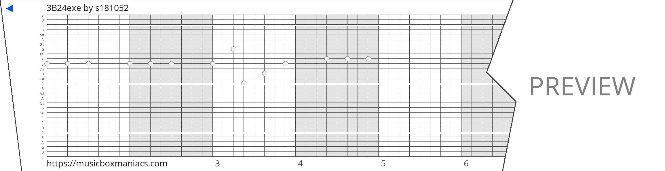 3B24exe 30 note music box paper strip