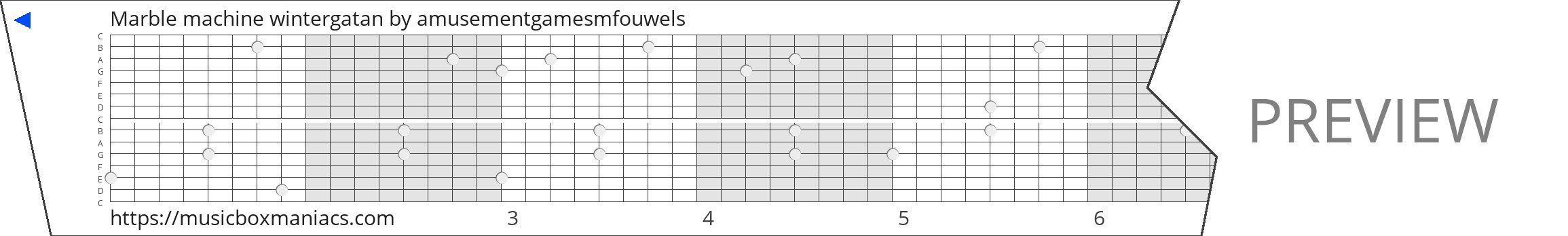 Marble machine wintergatan 15 note music box paper strip