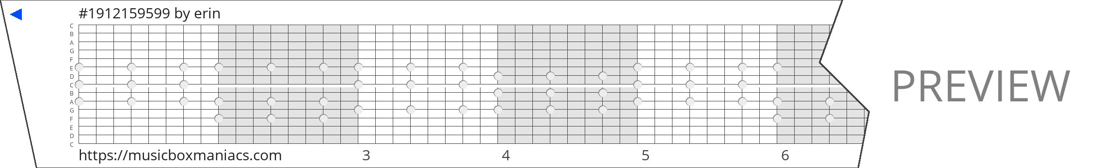 #1912159599 15 note music box paper strip
