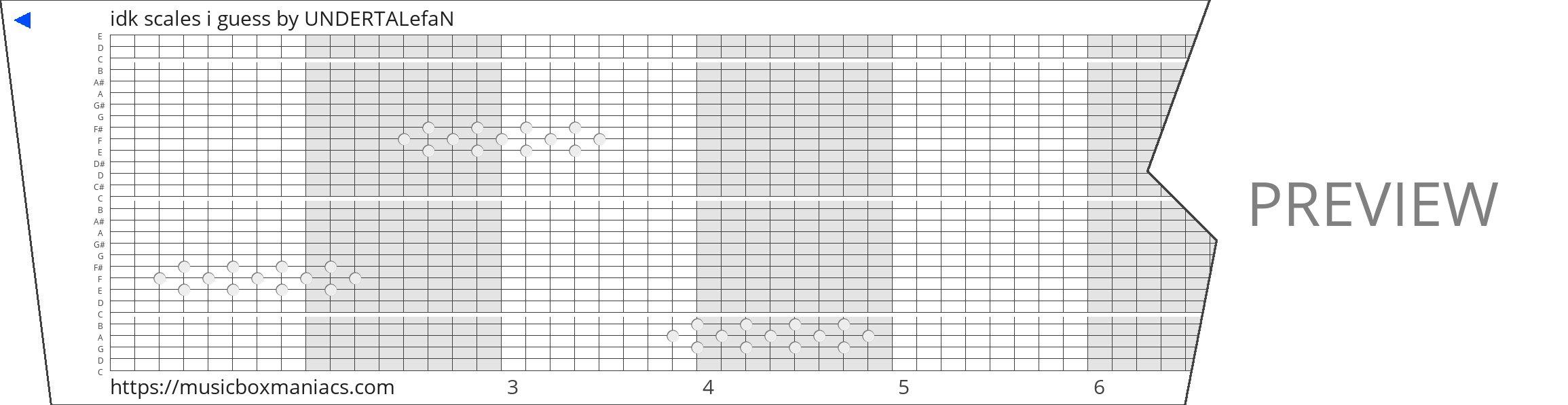 idk scales i guess 30 note music box paper strip