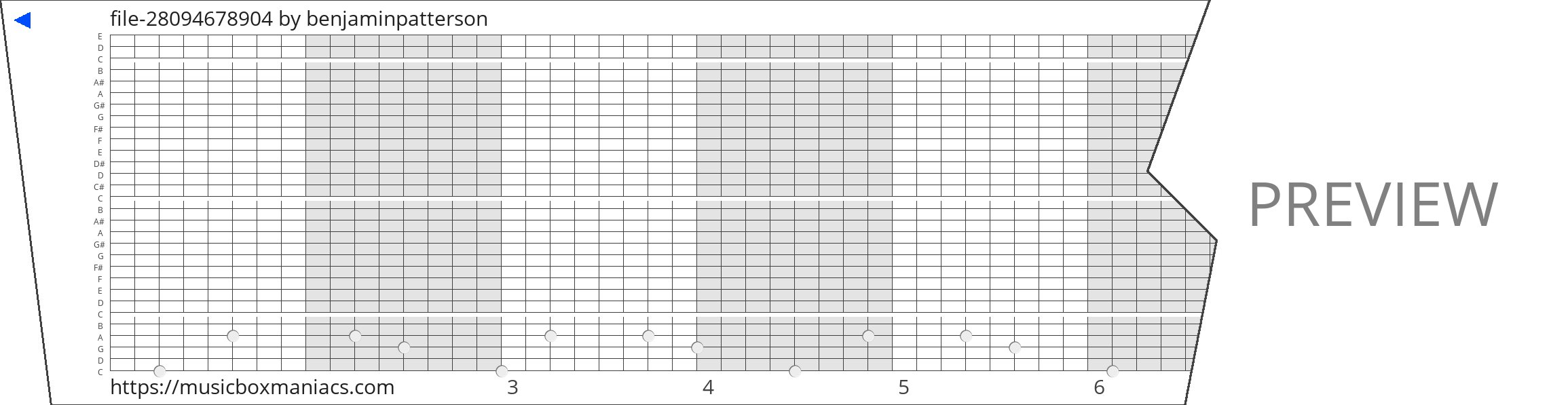 file-28094678904 30 note music box paper strip