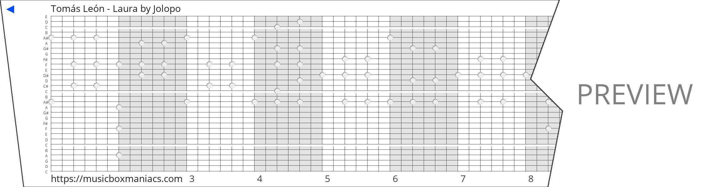 Tomás León - Laura 30 note music box paper strip