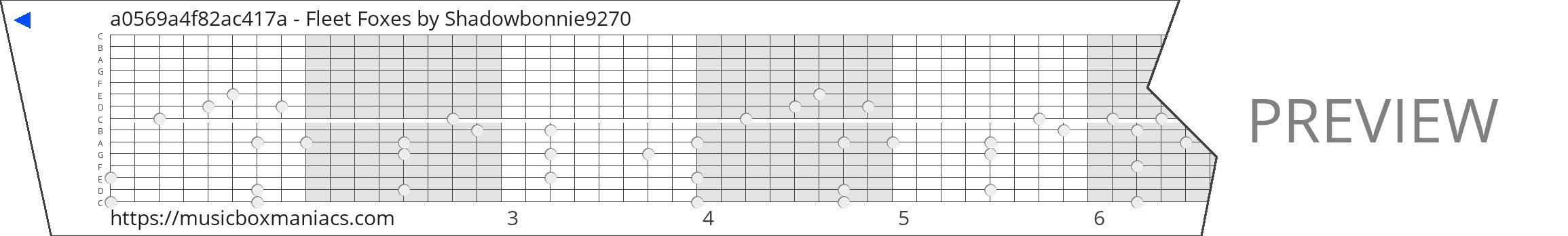 a0569a4f82ac417a - Fleet Foxes 15 note music box paper strip