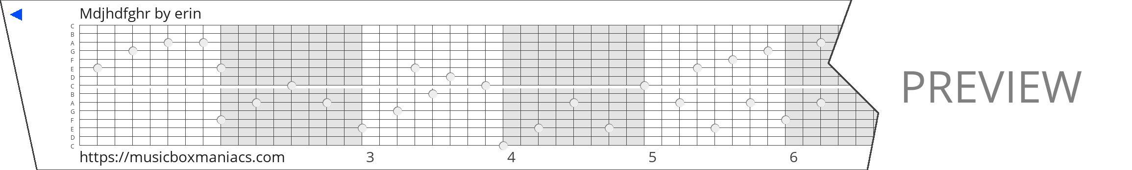Mdjhdfghr 15 note music box paper strip