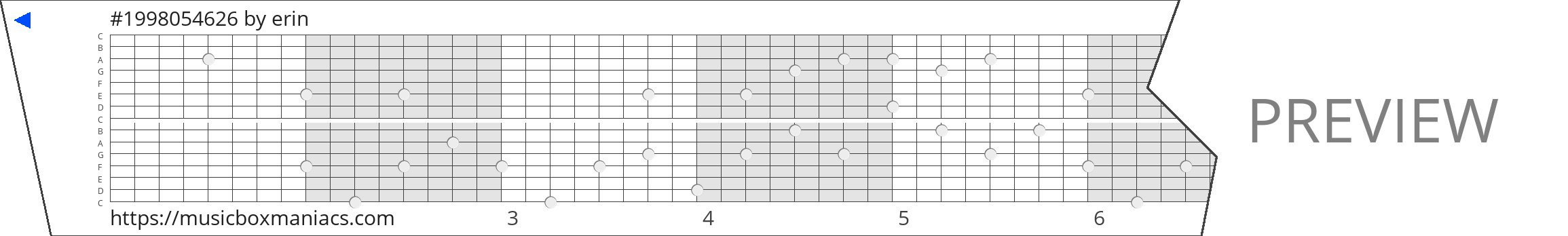 #1998054626 15 note music box paper strip
