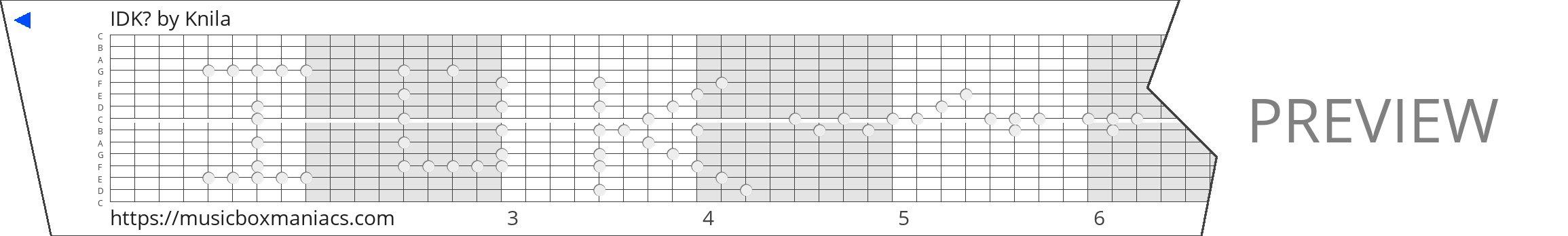 IDK? 15 note music box paper strip