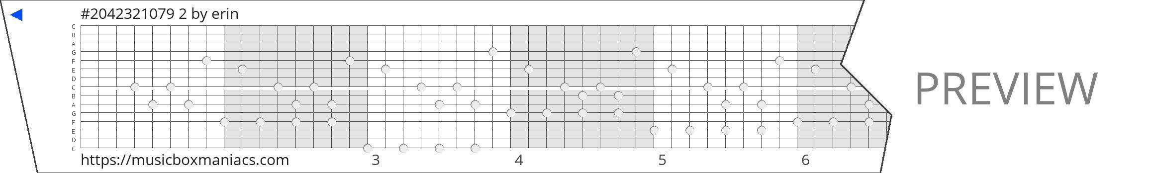 #2042321079 2 15 note music box paper strip