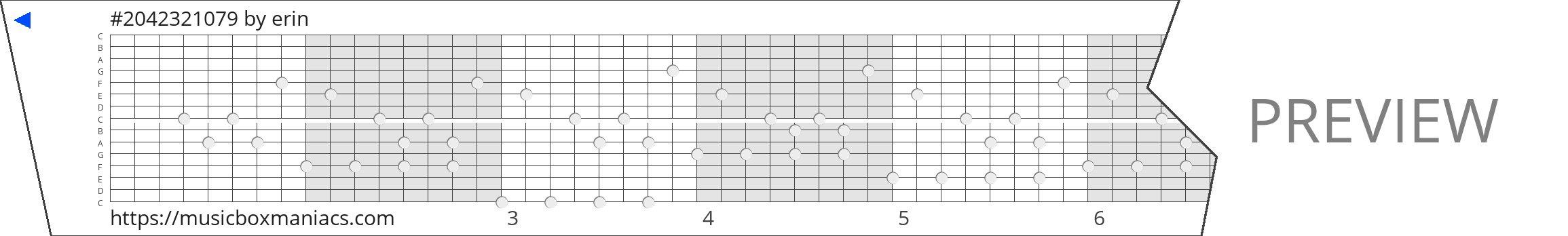 #2042321079 15 note music box paper strip