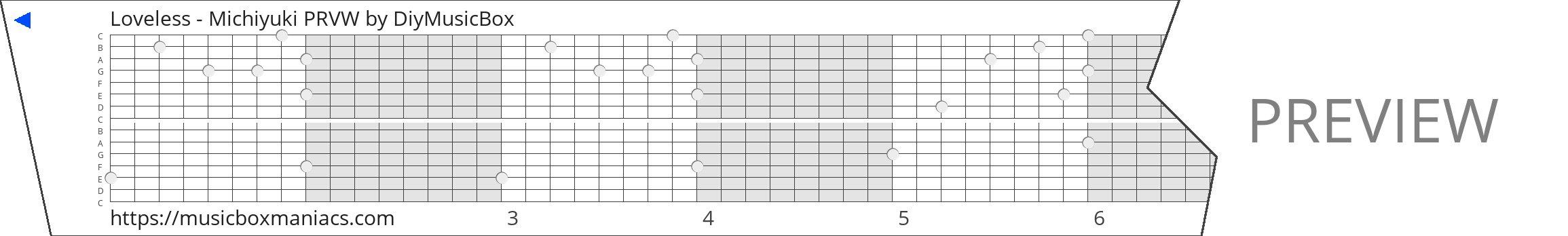 Loveless - Michiyuki PRVW 15 note music box paper strip