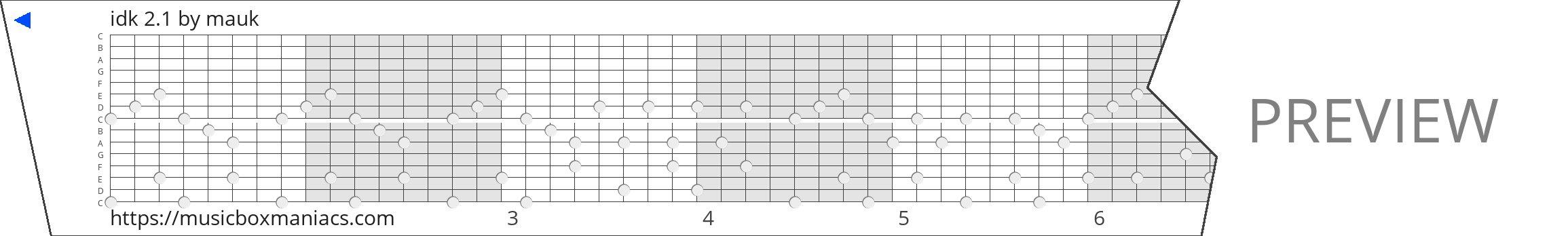 idk 2.1 15 note music box paper strip