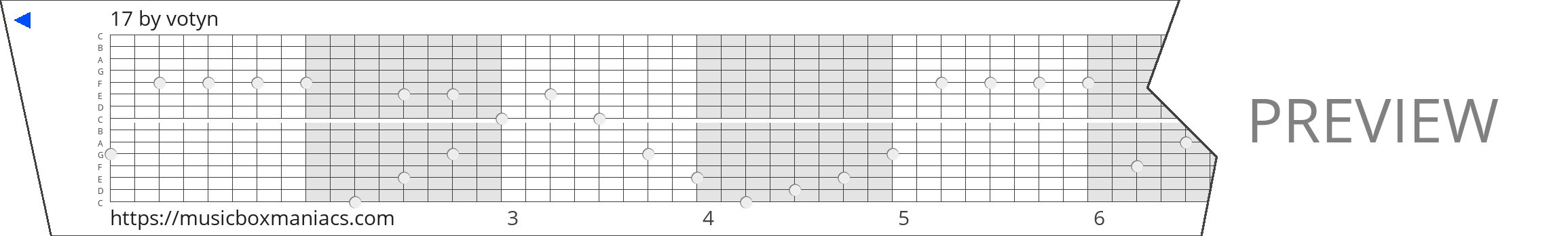 17 15 note music box paper strip