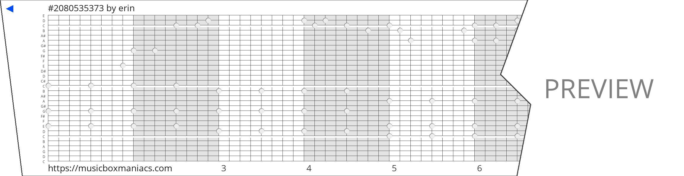 #2080535373 30 note music box paper strip