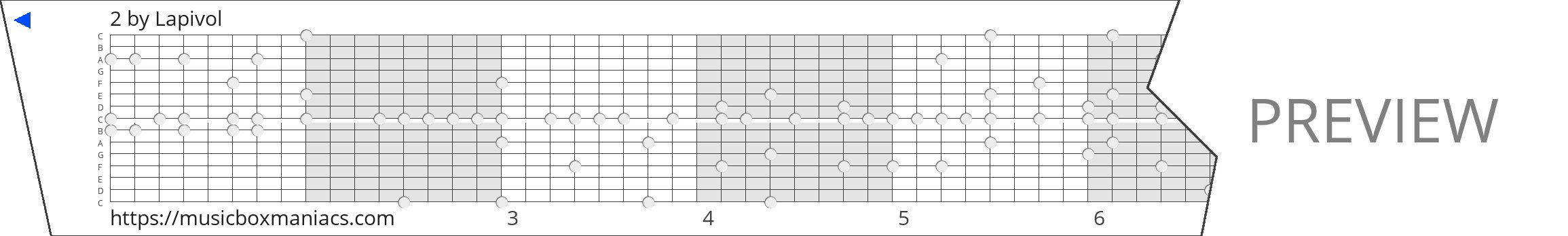 2 15 note music box paper strip