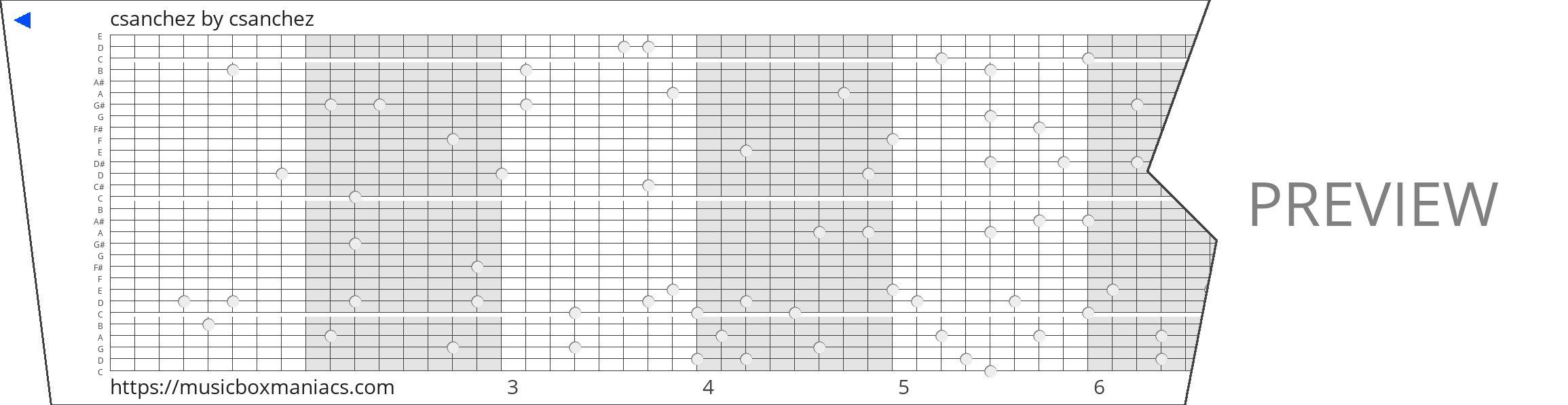 csanchez 30 note music box paper strip