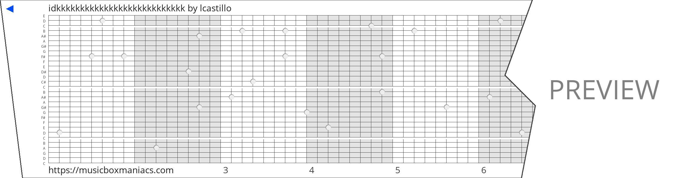 idkkkkkkkkkkkkkkkkkkkkkkkkkkk 30 note music box paper strip