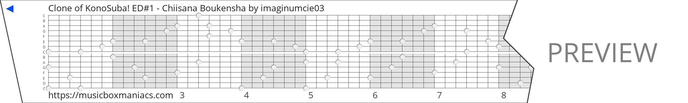 Clone of KonoSuba! ED#1 - Chiisana Boukensha 15 note music box paper strip