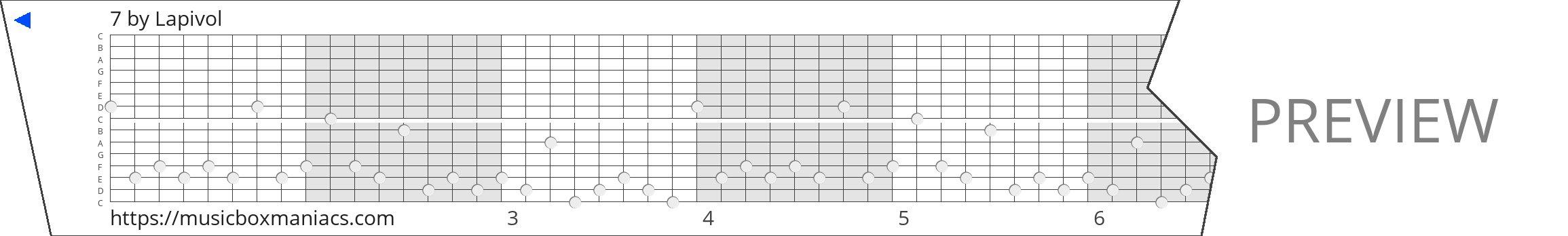 7 15 note music box paper strip