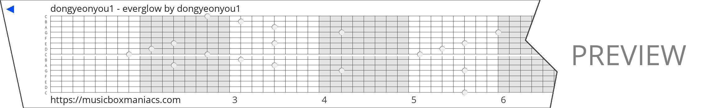 dongyeonyou1 - everglow 15 note music box paper strip